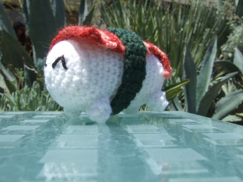 Crochet Sushi amigurumi Chocololic Knits Mascot