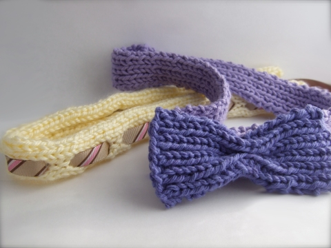 2 knit headbands
